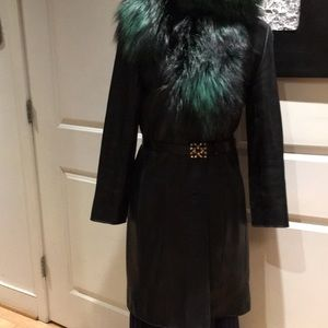 Andrew Marc  Lambskin leather coat US Small